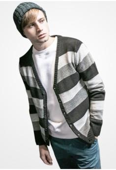 Calm Stripes Knit Cardigan