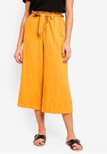 Cotton On yellow High Waist Culottes BD453AAA0957D3GS_1