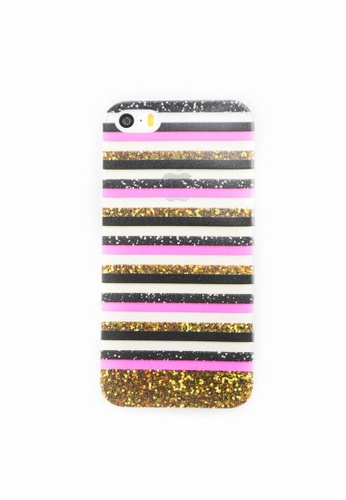 Fancy Cellphone Cases multi Stripes Soft Case for iPhone 5/5s/SE FA644AC0ITF4PH_1