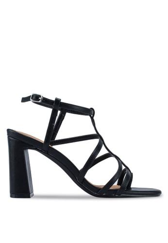 Rubi black Farrah Strappy Toe Post Heels 71B27SHD510ED2GS_1