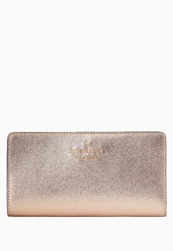Kate Spade gold Kate Spade Staci Large Slim Bifold Wallet - Rose Gold 3A2A1ACC247E28GS_1