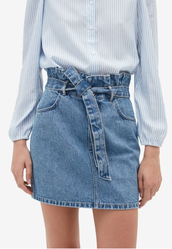 OVS blue Denim Skirts 5C641AA5DDFB66GS_1