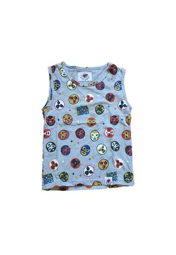 Roses & Rhinos grey Wrestling  Kids Vest 8FF3EKA6ED08B2GS_1