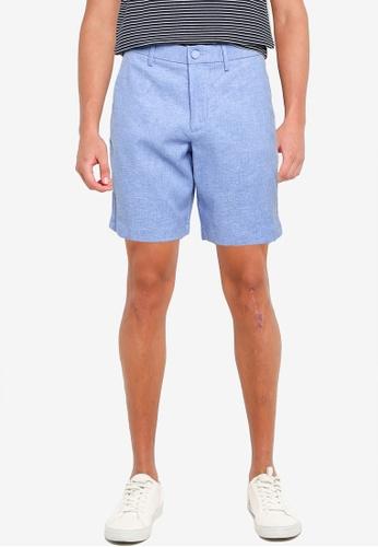Banana Republic 藍色 9Inch Core Temp 亞麻短褲 28CE6AAF9D5565GS_1