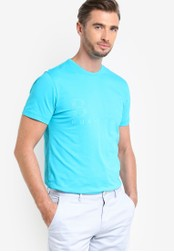 Boss Green blue US T-Shirt BO516AA77MDMMY_1