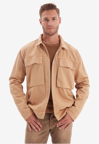 Trendyol brown Casual Denim Jacket AE432AA3F40950GS_1