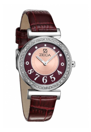 ZECA red and silver Zeca Watches Ladies Fashion Leather Analog - 145L Red ZE260AC43SIQSG_1