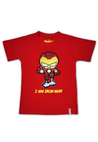 MARVEL MARVEL Avengers Boy Kid T Shirt Maroon DA266KA5B09C3BGS_1