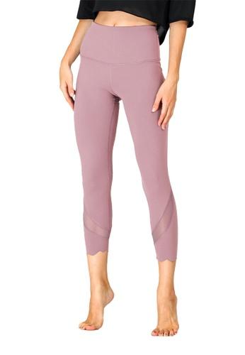 B-Code purple ZUU3055-Lady Quick Drying Running Fitness Yoga Leggings-Purple C5151AA03CE566GS_1