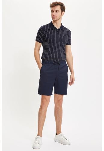 DeFacto navy Regular Fit Cotton Chino Bermuda Shorts 39FB0AAEE5520AGS_1