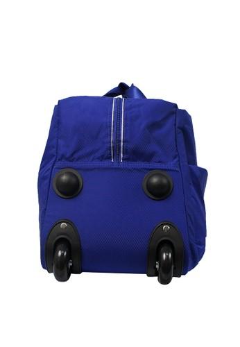 Jual Jack Nicklaus Jack Nicklaus Travel Bag Trolley 19inch Blue Original   ZALORA Indonesia ®