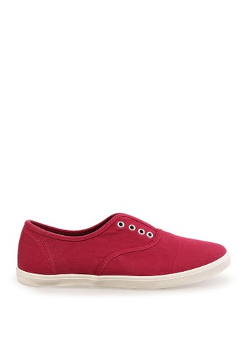 Minarno red Women Red Laceless Sneakers MI641SH34RZDID_1
