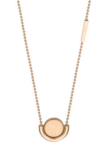 ESPRIT gold ESPRIT [Stella] RoseGold Stainless Steel Necklace (42 cm + 3 cm extension) E41BAAC653E053GS_1
