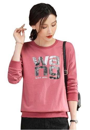 A-IN GIRLS pink Fashion Printed Sweater T-Shirt 8C95BAA1505B89GS_1