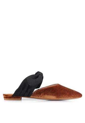 Mango orange Knot Velvet Shoes C0E05SHB511D8CGS_1