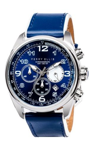 PERRY ELLIS blue Perry Ellis GT Men Chronograph 44mm Quartz Watch 01003-01 21021AC448D475GS_1