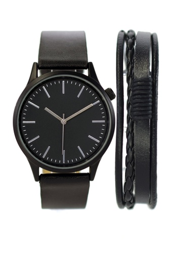 LEUPP black Kubo Watch And Bracelet Pack E59ABACCC1CF9BGS_1