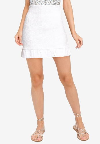 Abercrombie & Fitch white Webex Smocked Mini Set Skirt 67A49AA46B464AGS_1