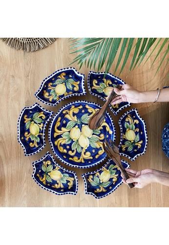 Living DNA Lemon Ceramic 7pc Party Platter - Blue FB9FAHLF3D2940GS_1