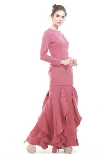 Rina Nichie Couture pink Zerra Classic Couture Kurung in Plum Pink CB289AAA95ABD3GS_1