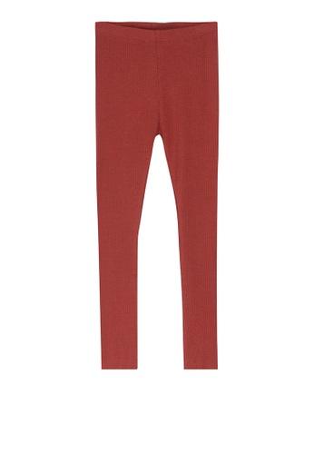 NAME IT red Kabex Rib Leggings 1AF46KA4EFA8DCGS_1