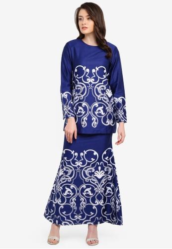 Butik Sireh Pinang blue Delisha Short Modern Kurung BU003AA0RYXCMY_1