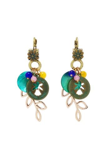 Jaysa Collection green Bohemian Style Seashell Assorted Earrings JA875AC0GWT1SG_1
