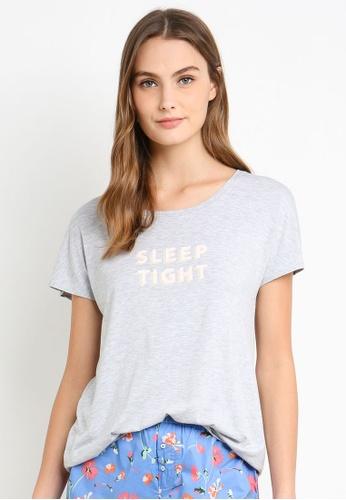 Cotton On Body grey Sleep Recovery Cap Sleeve T-Shirt 4462FAAC87F9CEGS_1