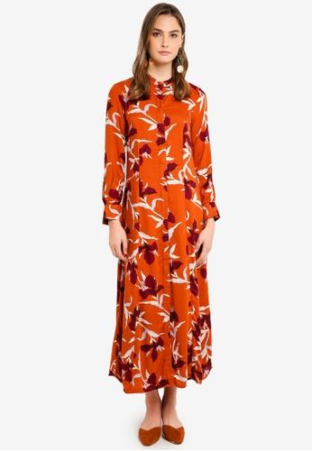 Y.A.S orange Irisa Maxi Shirt Dress 0DACAAAAA6A639GS_1
