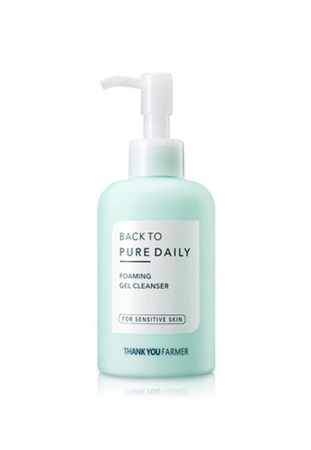 Thank You Farmer white THANK YOU FARMER Back to Pure Daily Foaming Gel Cleanser 200ml TH577BE17MRIMY_1