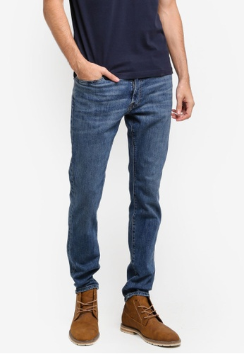 Abercrombie & Fitch blue Stretch Super Slim Jeans AB423AA0T0ATMY_1