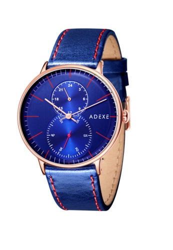 ADEXE Watches blue ADEXE Watches Foresser Men Leather 3D6AAACDFAC26AGS_1
