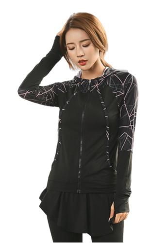 B-Code pink ZYG3081-Lady Quick Drying Running Fitness Yoga Sports Jacket -Pink E596FAA09B284FGS_1