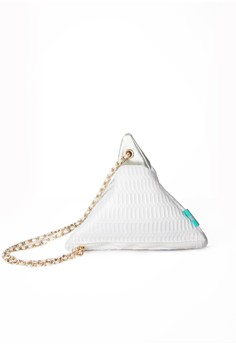 Cheese & Cyber Pyramid Clutch