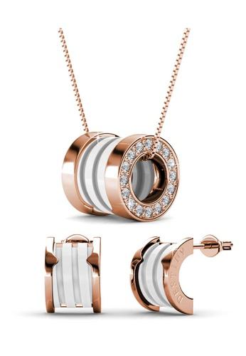 Her Jewellery white Destiny Ceramic Set (White Gold) with Premium Grade Crystals from Austria HE210AC92DVVSG_1