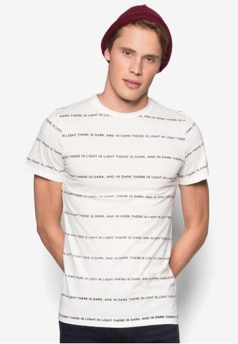 文字esprit手錶專櫃條紋TEE, 服飾, T恤