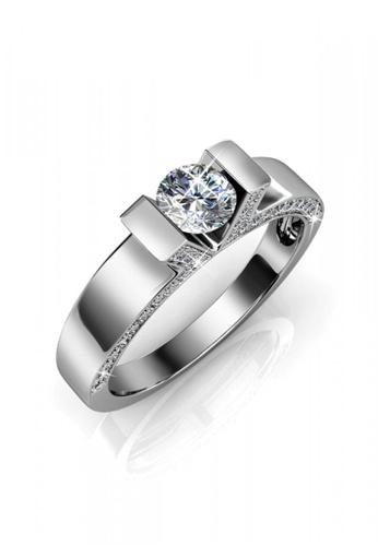 Her Jewellery silver Swarovski® Crystals - Venus Ring (White Gold)(18K White Gold Plated) Her Jewellery HE581AC0R9W2MY_1