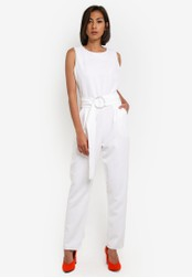 Dorothy Perkins white Crepe D-Ring Jumpsuit DO816AA0SB6EMY_1