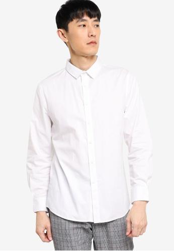 ZALORA BASICS white Slim Fit Work Shirt 10E4AAAE3596D1GS_1