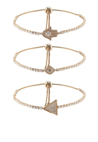 Red S Revenge Gold 3 In 1 Delightfyl Daisy Fine Chain Bracelet Set Ef058ac7e5cd8dgs