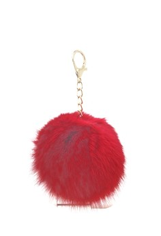 Image of Gantungan Pompom Bag Charm - Red