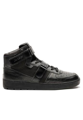 鱷魚皮革復古高筒休閒鞋, 鞋,esprit 童裝 休閒鞋