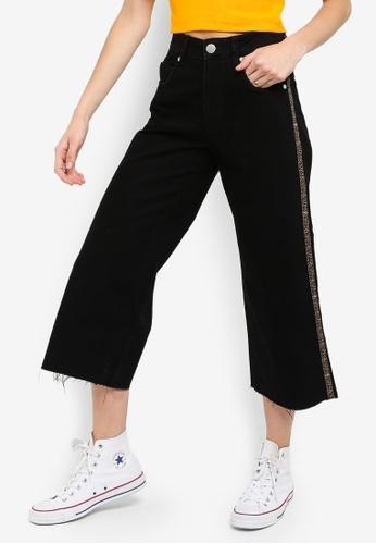 Cotton On multi Mid Rise Wide Leg Crop Jeans 5BB6BAA7ABFCF8GS_1