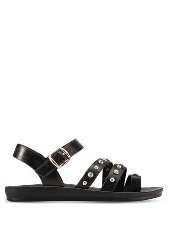 Noveni black Noveni Strappy Sandals NO978SH0S9R7MY_1