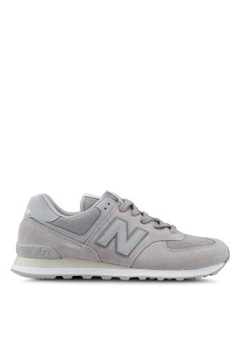 New Balance grey 574 Lifestyle Classic Tonal Shoes 12831SH62F5D97GS_1