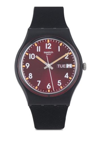 Swatch black Sir Red Watch F8820ACB2C5438GS_1