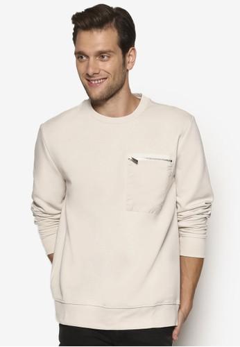 拉鍊口袋長袖衫, 服esprit童裝門市飾, 運動衫