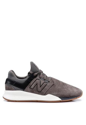 New Balance grey 247 Luxe Leather Shoes 86A42SH1559A38GS_1