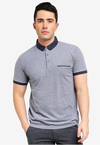 ESPRIT navy Short Sleeve Polo Shirt 6C948AAAC87B1CGS_1