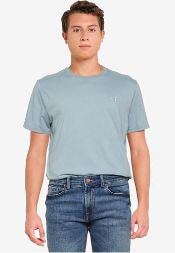 Hollister blue Crew Solid T-Shirt CF830AAB60747BGS_1